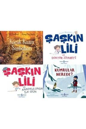 İş Bankası Kültür Yayınları Okul Öncesi Renkli Büyük Boy 4 Kitap Set-şaşkın Lili-kumrular Nerede-küçük Kazın Sonbaharı