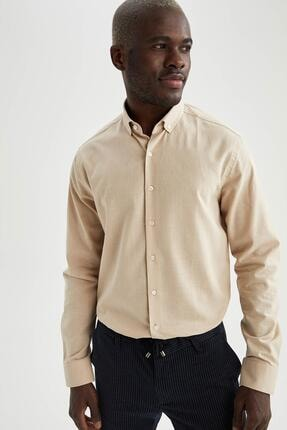 DeFacto Modern Fit Klasik Uzun Kollu Gömlek