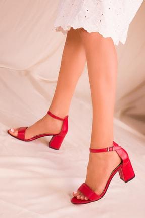 SOHO Kırmızı Kadın Klasik Topuklu Ayakkabı 16028