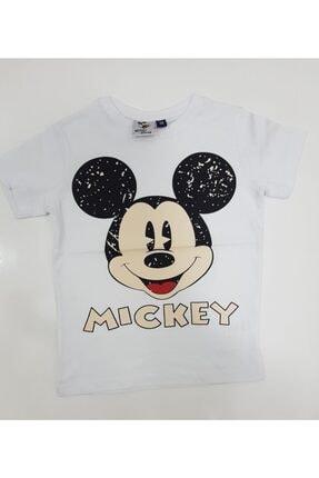 Mickey Mouse Beyaz Renk Erkek Çocuk %100 Pamuk Tişört