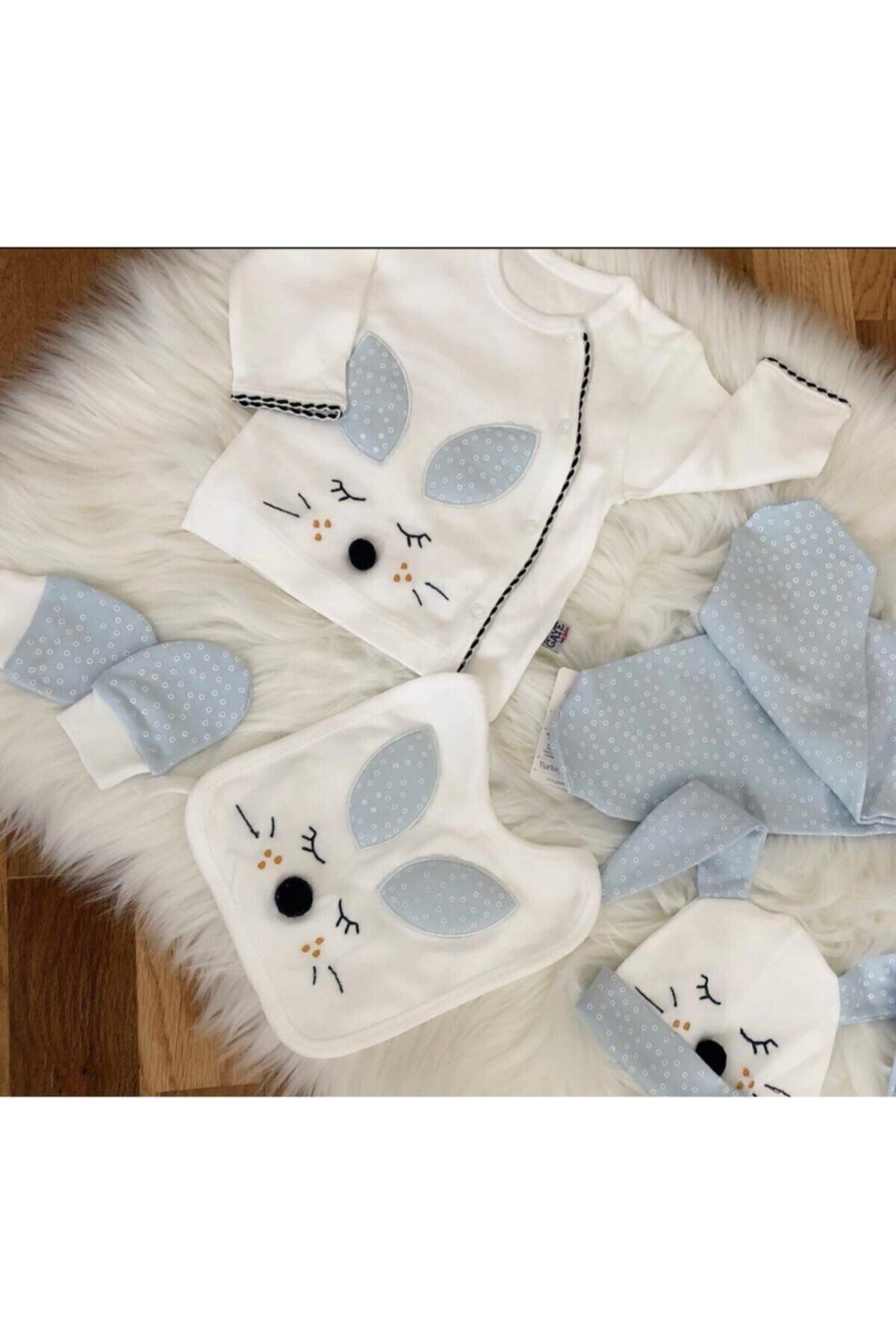 Gaye Bebe Erkek Bebek Beyaz Bebek 5'li Hastane Çıkışı Seti 100763 2
