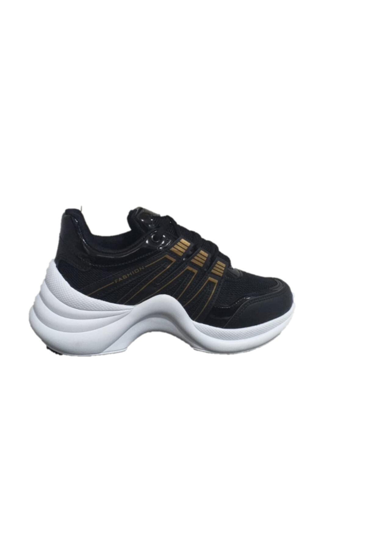 Twingo 602 Siyah Sarı Kadın Spor Ayakkabı 2