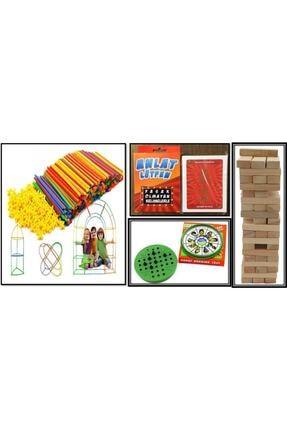 Sisimo Akıl ve Zeka Oyunları Bambu Çubukları 300 Parça - Lütfen Anlat - Solo Test - 54 Parça Jenga