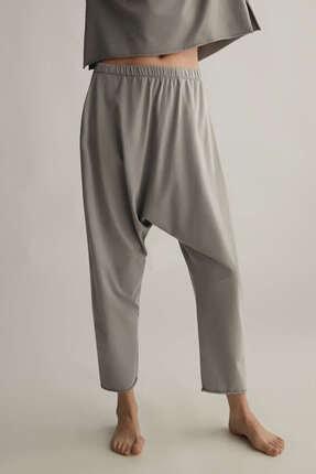 Oysho Kadın Gri Relax Cotton Harem Pantolon