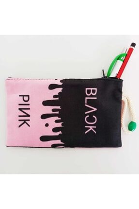 Makko Polo Unisex Siyah Pembe Black Pink Bez Cüzdan Kalemlik