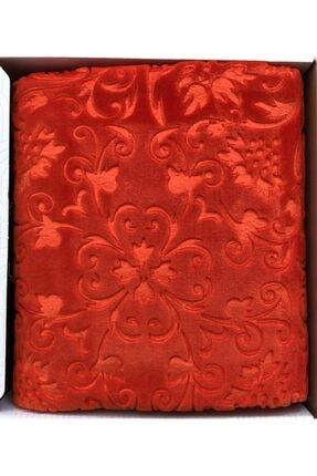 Merinos Embos Çift Kişilik Kutulu Battaniye 220x240 Nar Çiçeği