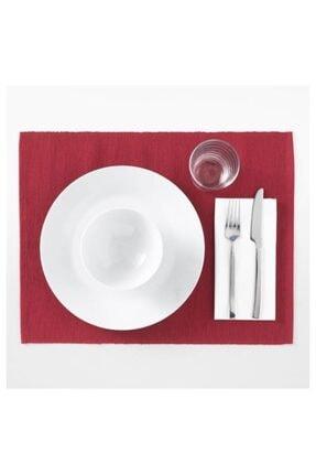 IKEA Amerikan Servis Kırmızı Renk Meridyendukkan 35x45 Cm 1 Adet Servis Altlığı Pamuk