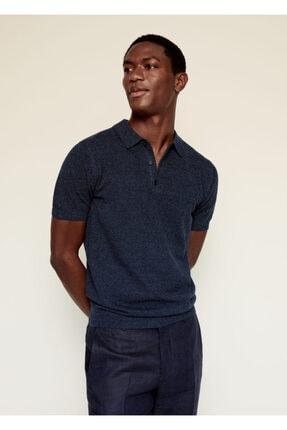 MANGO Man Pamuk-keten Karışımlı Polo Yaka T-Shirt