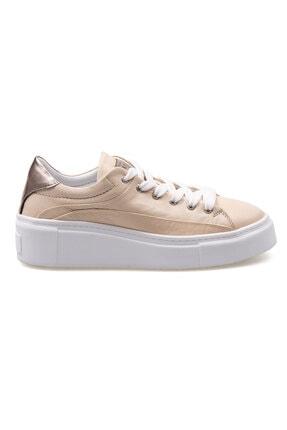 Pegia Kadın  Bej Hakiki Deri Sneaker La1608