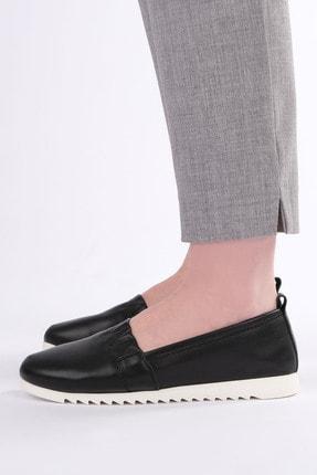 Marjin Kadın Siyah Hakiki Deri Comfort Ayakkabı
