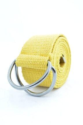 Trend Deri Unisex Demir Tokalı Ayarlanabilir Kemer 4cm Sarı