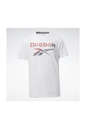 Reebok Erkek  Yetişkin Spor T-Shirt BIG INTL TEE        WHITE EW8542