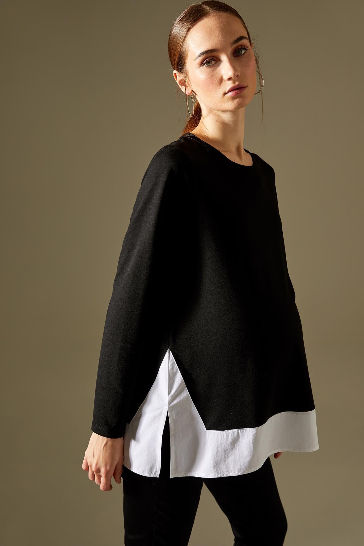 DeFacto Kadın Hamile Renk Bloklu Sweatshirt T9701AZ21SP