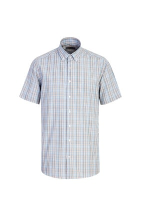 Kiğılı Kısa Kol Regular Fit Ekose Gömlek