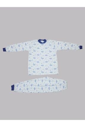 Karaca Erkek Çocuk Mavi Baskılı Pijama Takımı