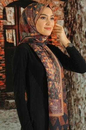 Moda Ebrar Kadın  Desenli Pamuk Şal - Tmeds-011