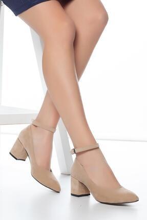 MUGGO Vizon Süet Kadın Klasik Topuklu Ayakkabı DPRGZHWY704