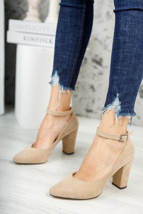 MUGGO Vizon Süet Kadın Klasik Topuklu Ayakkabı DPRGZHWY705