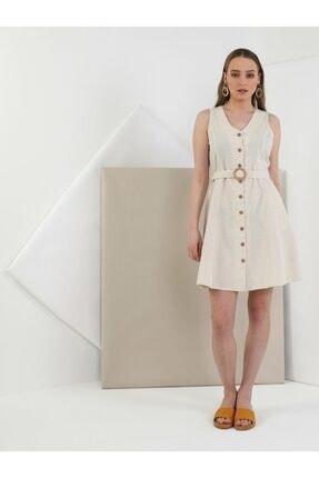 Colin's KADIN Slim Fit Kadın Bej Elbise CL1049223
