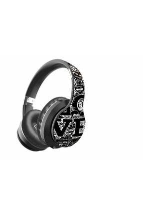 Preo Siyah Kablosuz Kulak Üstü Kulaklık Grafiti My Sound Ms56