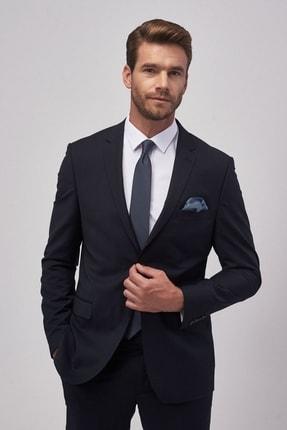 ALTINYILDIZ CLASSICS Erkek Lacivert Slim Fit Dar Kesim Düz Lacivert Su Geçirmez Nano Takım Elbise