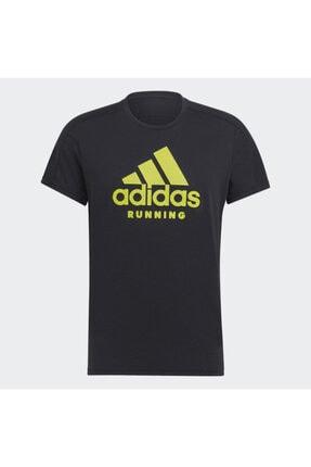 adidas Unisex Siyah Gj6472 Run Logo Tee M T-shırts