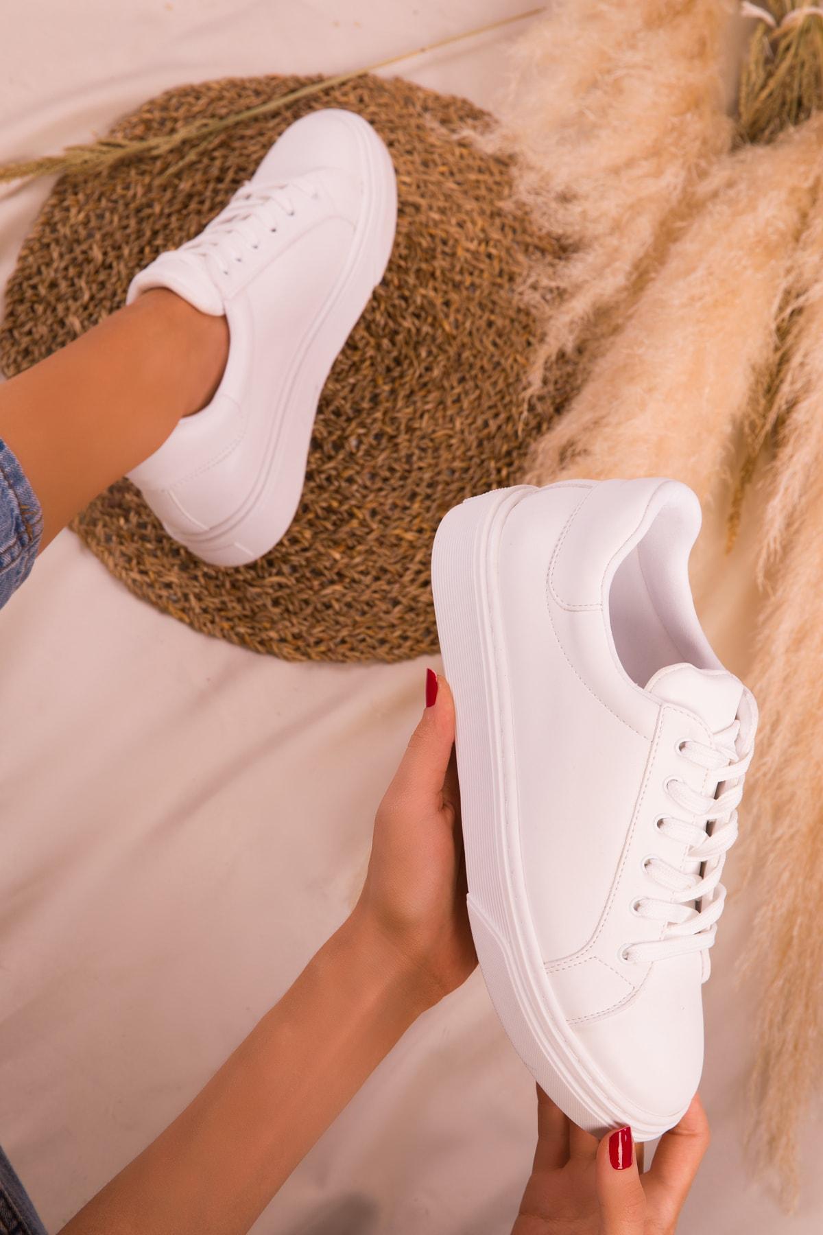 SOHO Beyaz Kadın Sneaker 14395 2