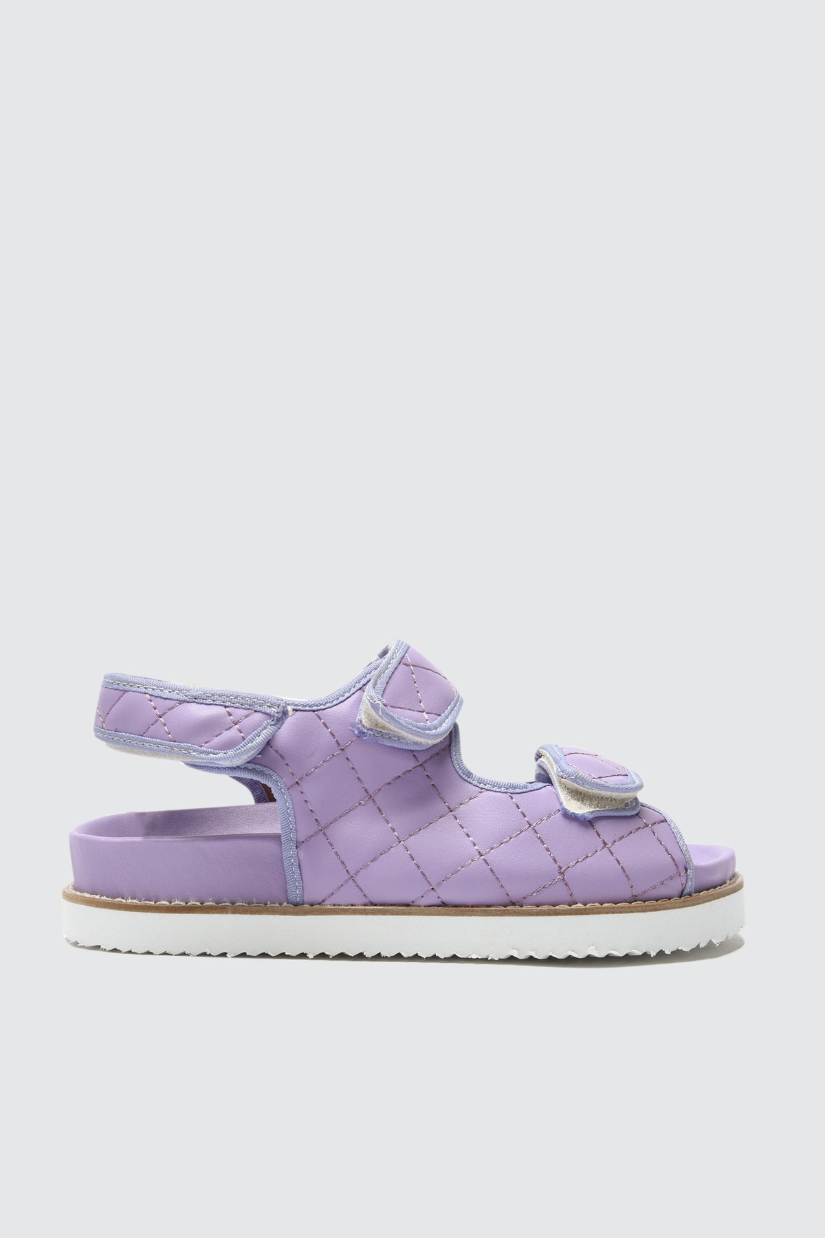 TRENDYOLMİLLA Lila Kapitone Detaylı Kadın Sandalet TAKSS21SD0020 2
