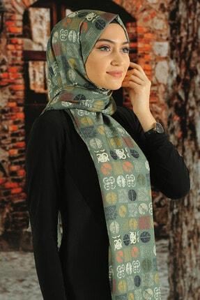 Moda Ebrar Desenli Pamuk Şal - Tmeds-001