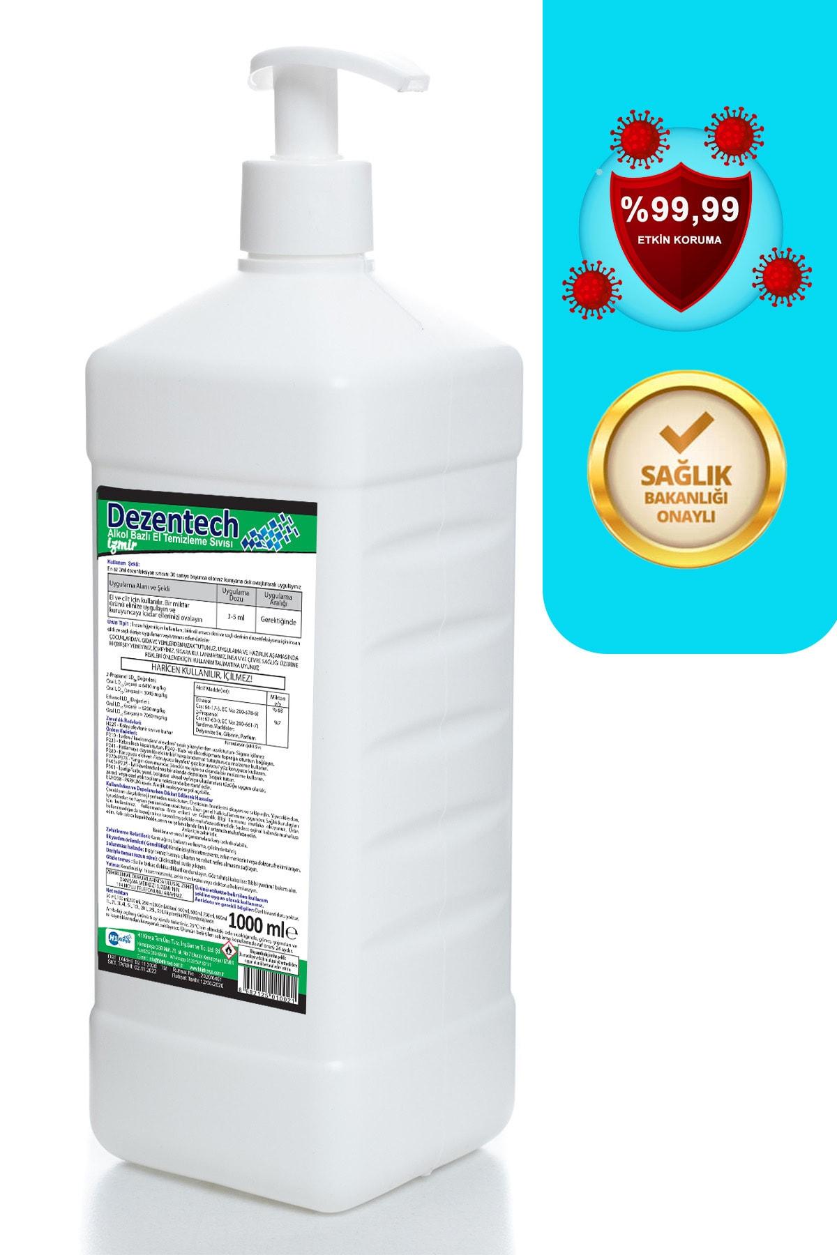 Ebruli Dezentech El Temizleme Sıvısı 1 LT&Ebruli Limon Kolonyası 1 LT&HEDİYE Medikal Maske 50 Adet 2