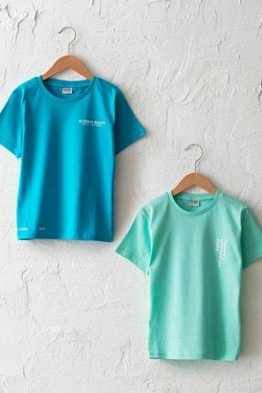 LC Waikiki Erkek Çocuk Turkuaz Gbs T-Shirt