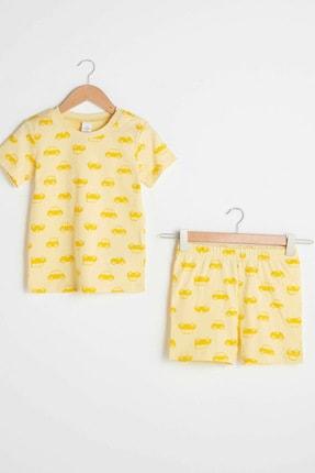 LC Waikiki Erkek Bebek Açık Sarı Baskıl Lu9 Pijama Takımı