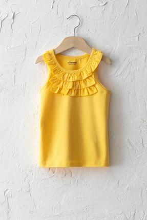 LC Waikiki Kız Çocuk Sarı Fyp T-Shirt