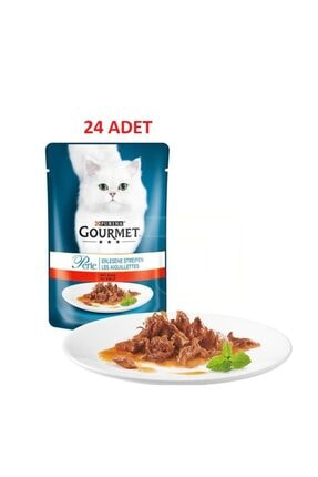 Purina Gourmet Perle Izgara Sığır Etli Yaş Kedi Maması 85 Gr 24 Adet