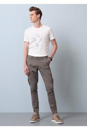 Ramsey Erkek Düz Kargo Dokuma Pantolon - Yeşil