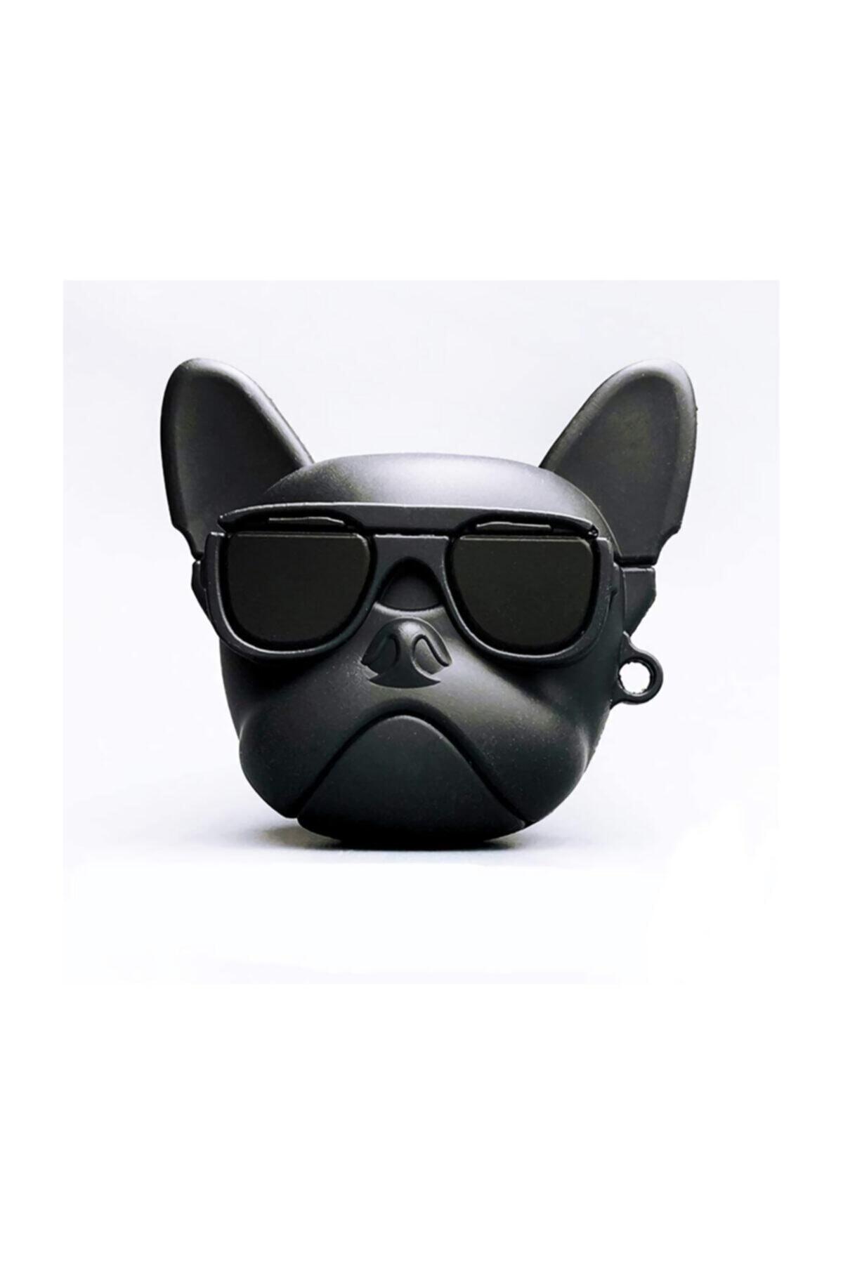 Playseba Airpods 1 ve 2 Uyumlu French Bulldog Köpek Koruyucu Kılıf 1