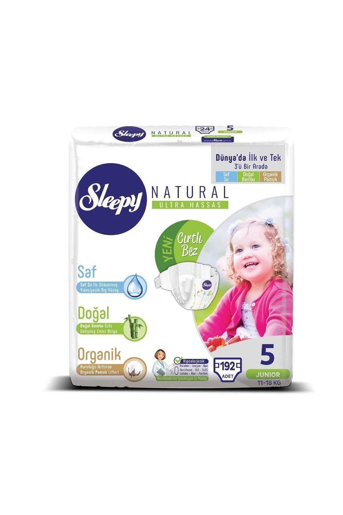 Sleepy Natural Bebek Bezi 5 Numara Junior Ultra Fırsat Paketi 192 Adet 2