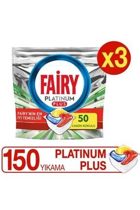 Fairy Platinum Plus 50 Yıkama Bulaşık Makinesi Deterjanı Kapsülü X 3 Adet