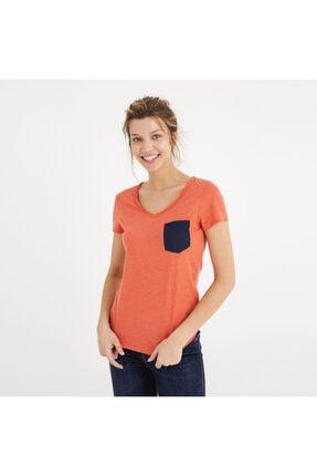 Mustang Kadın Basic Pocket T-shirt Kırmızı