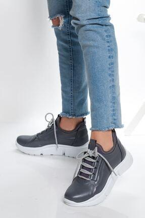 derithy Kadın Antrasit Gri Sneaker