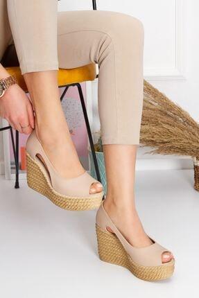 derithy Older Dolgu Topuklu Ayakkabı-ten-lzt0536