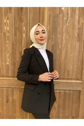 Eyyo Kadın Siyah Blazer Ceket