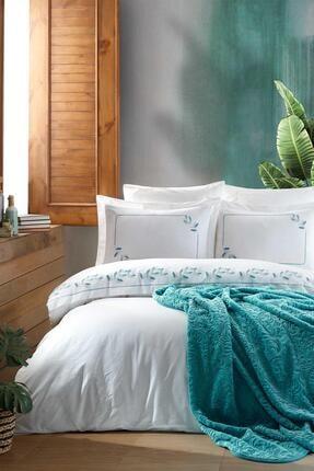 Elart Battaniye Seti Nevresimli Sprıng Yeşil
