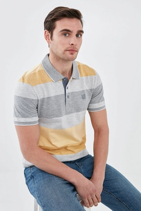 LC Waikiki Erkek Sarı Melanj T-Shirt