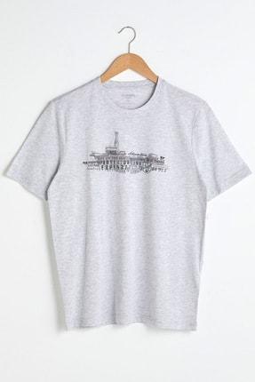 LC Waikiki Erkek Taş Melanj T-Shirt