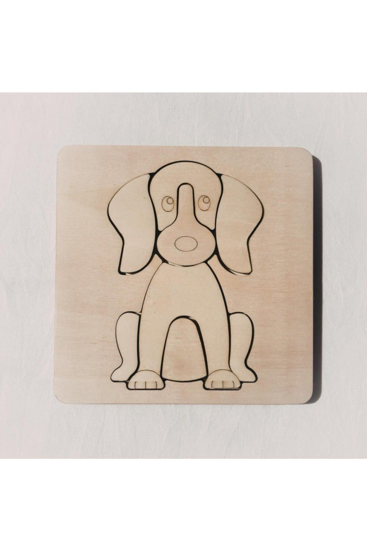 dodido wooden toys Boyanabilir Ahşap Yapboz Köpek 1
