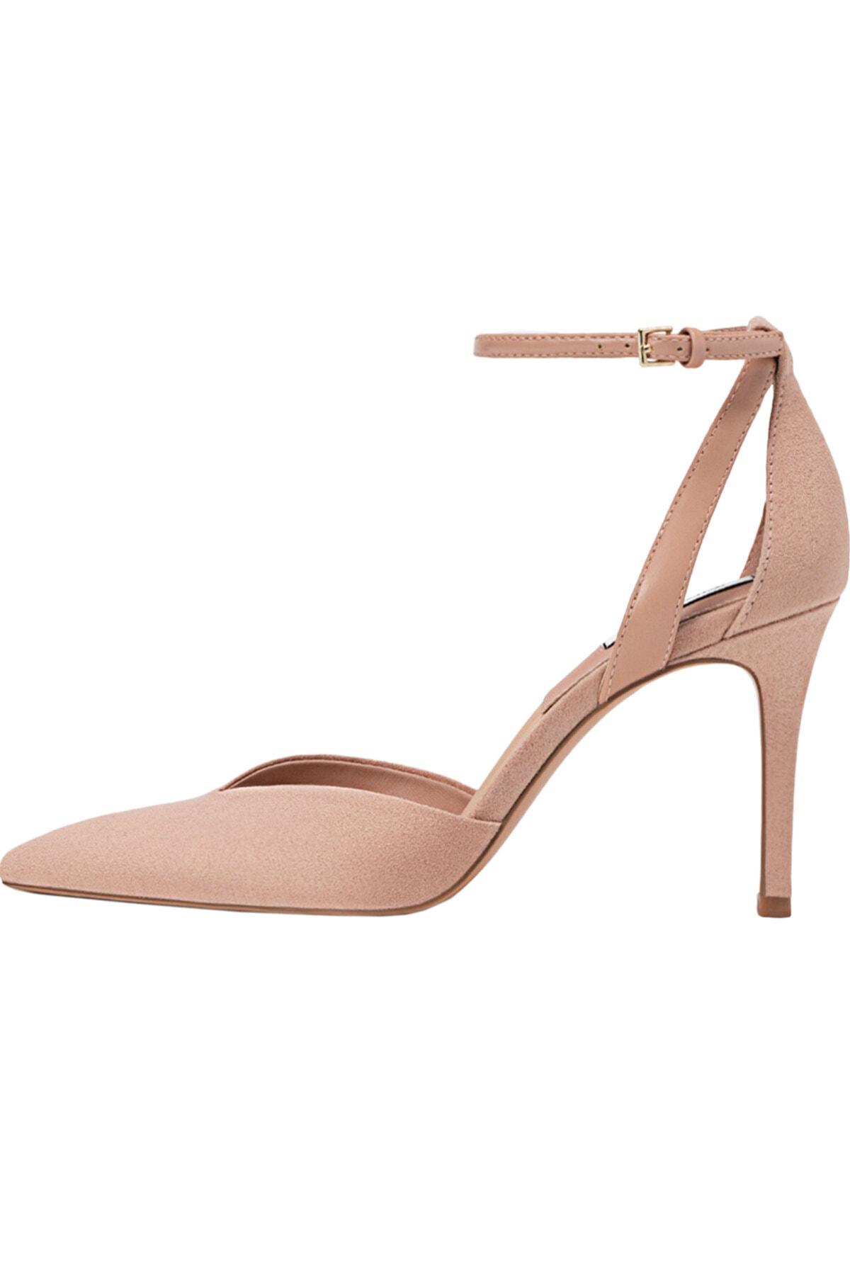 Stradivarius Kadın Pudra Bilekten Bantlı Yüksek Topuklu Ayakkabı 19153770