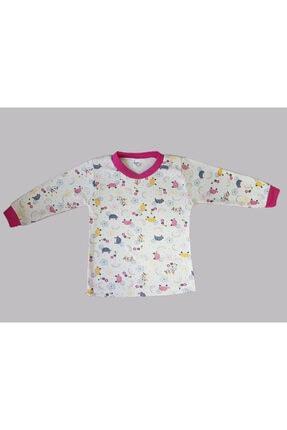 Karaca Kız Çocuk Pembe Kaplumbağa Baskılı Pijama Takımı