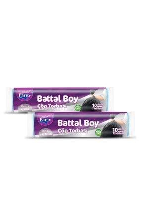 Parex Ekstra Dayanıklı Çöp Torbası - Battal Boy 2' Li Paket (72 X 95)