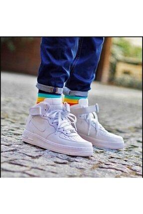 Nike Kadın Beyaz Sneaker Air Force 1 Mid gs